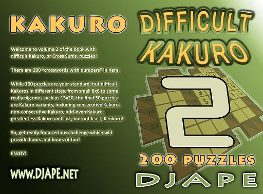 Difficult Kakuro book, volume 2