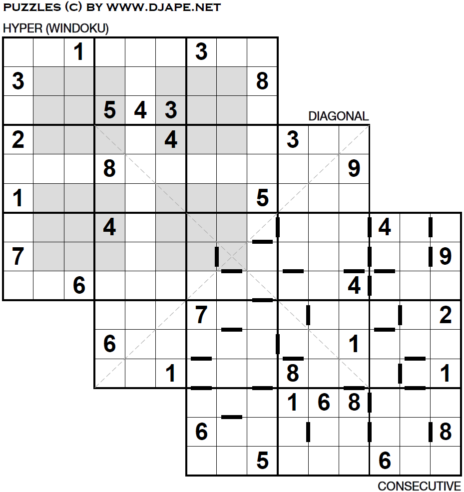 photo regarding Multi Sudoku Printable titled Wendys puzzle (triple loco sudoku)