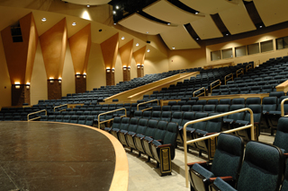 Oregon City High School has both a main stage theater shown here and a blackbox theater  a