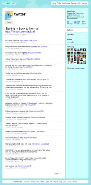 Twitter-layout