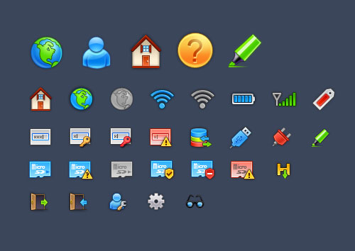 50 New High Quality Icon Sets 21