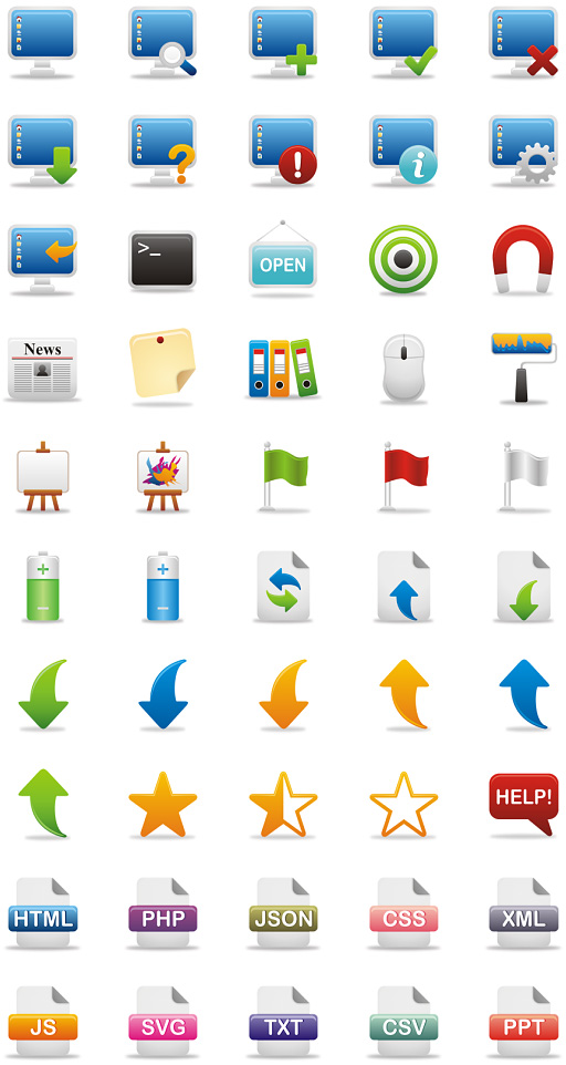 50 New High Quality Icon Sets 23