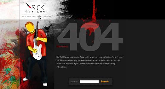 35+ Creative 404 Error Page Designs 17
