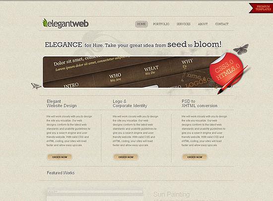 30+ Beautiful DIV/CSS Web Designs 20