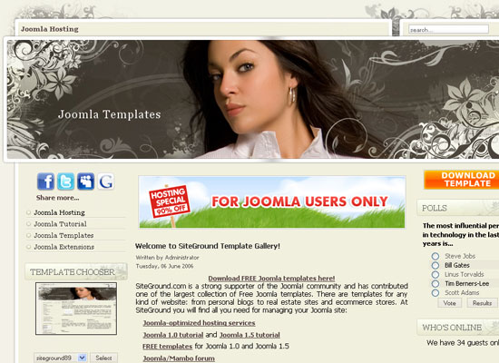 30 Free Joomla Website Themes Collection 1