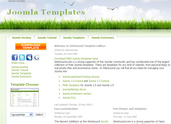 30 Free Joomla Website Themes Collection 10