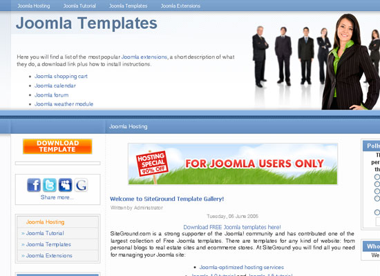 30 Free Joomla Website Themes Collection 7