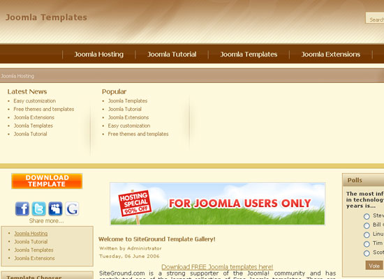 30 Free Joomla Website Themes Collection 9