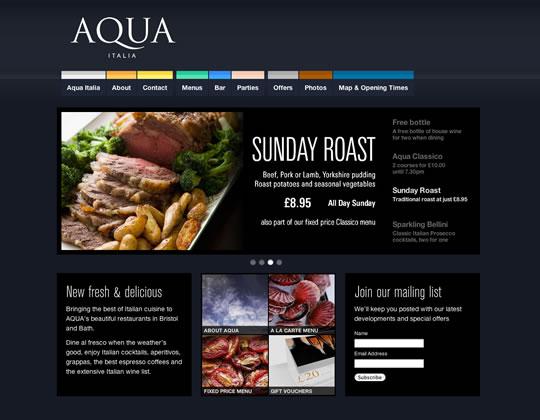 Showcase of Beautiful Restaurant Websites 2