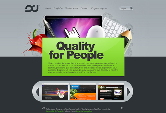 35 Beautiful DIV/CSS Web Designs For Your Inspiration 6