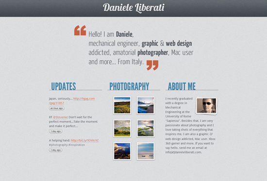 35 Beautiful DIV/CSS Web Designs For Your Inspiration 14