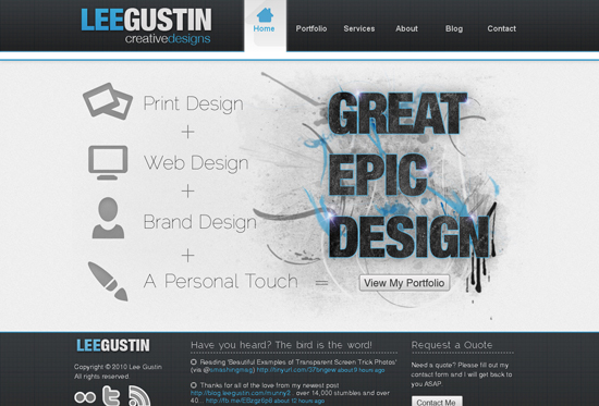 35 Beautiful DIV/CSS Web Designs For Your Inspiration 22