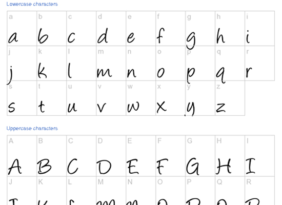 20+ Most Amazing Free Handwritten Fonts for Web designers 3