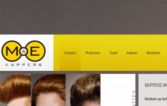 Beautiful Navigation Menu Style with Website Color Combination 6