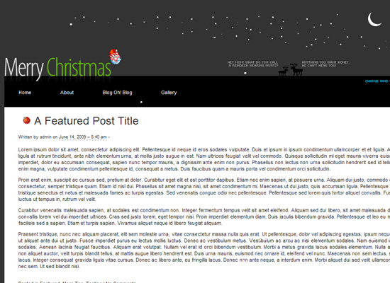 25 Free Web Design Themes for Christmas 8
