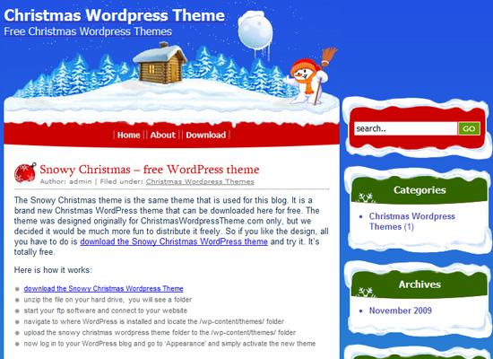 25 Free Web Design Themes for Christmas 9