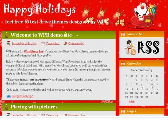 25 Free Web Design Themes for Christmas 10
