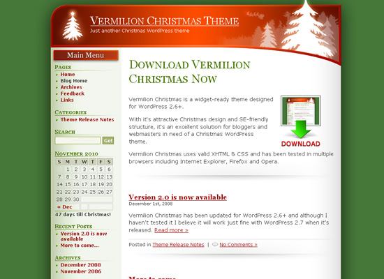 25 Free Web Design Themes for Christmas 2