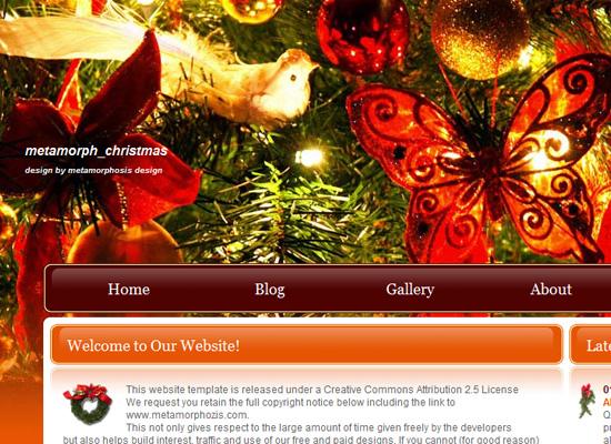 25 Free Web Design Themes for Christmas 13