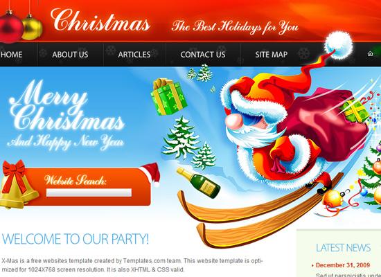 25 Free Web Design Themes for Christmas 16
