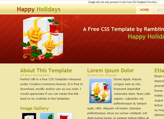 25 Free Web Design Themes for Christmas 17