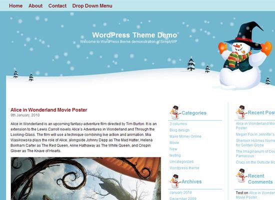 25 Free Web Design Themes for Christmas 4