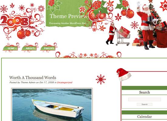 25 Free Web Design Themes for Christmas 6