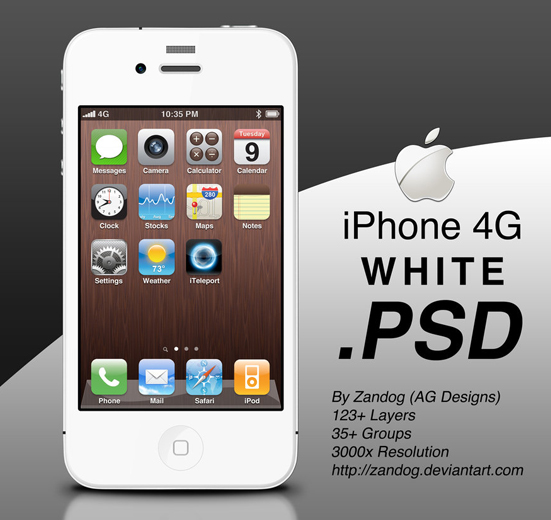 20 iPhone PSD Collection for Your Inspiration 8