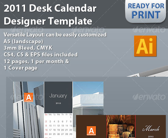 20 Beautiful and Useful Premium Calendar Resources with PSD/EPS File 8