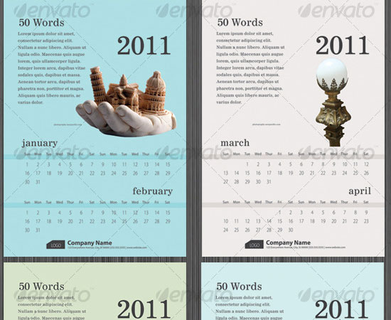 20 Beautiful and Useful Premium Calendar Resources with PSD/EPS File 9