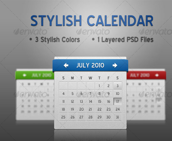 20 Beautiful and Useful Premium Calendar Resources with PSD/EPS File 11