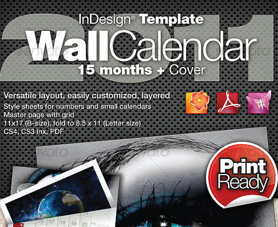 20 Beautiful and Useful Premium Calendar Resources with PSD/EPS File 14