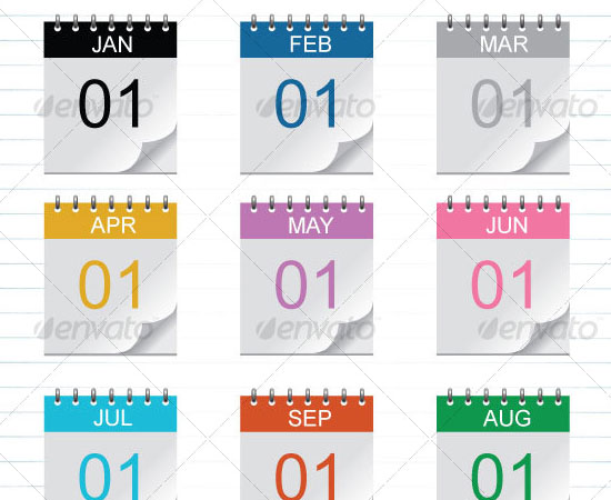 20 Beautiful and Useful Premium Calendar Resources with PSD/EPS File 4