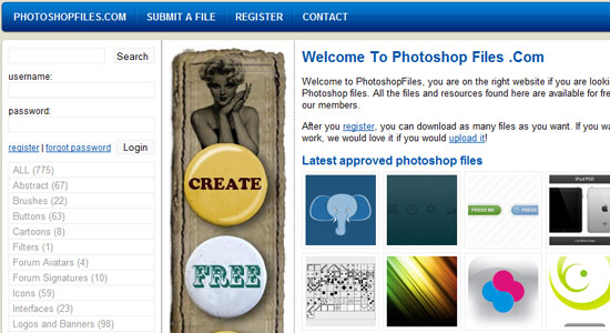 Free Photoshop and Vector Resources for Designers 3