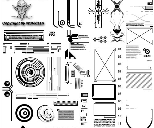 Huge Collection of Free Tech Brushes for Photoshop Users 4