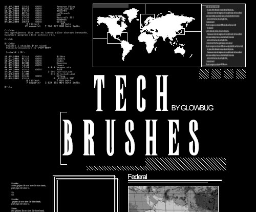 Huge Collection of Free Tech Brushes for Photoshop Users 5