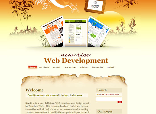 40 High Quality Free XHTML/CSS Web Template for Developers 1