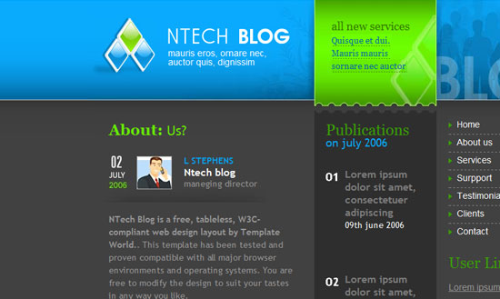 40 High Quality Free XHTML/CSS Web Template for Developers 35