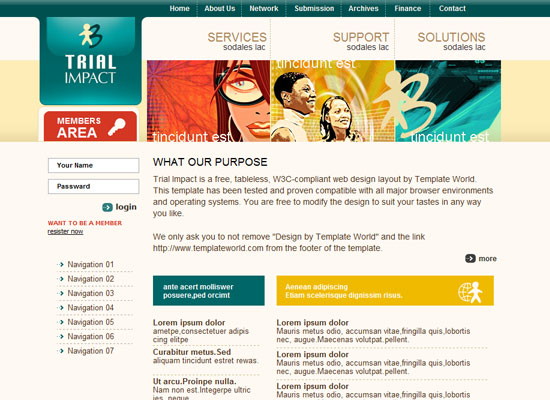 40 High Quality Free XHTML/CSS Web Template for Developers 4
