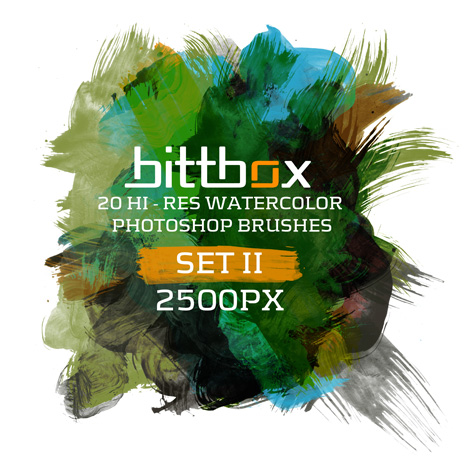 10 Set of Splatter, Spray and Watercolor Free Photoshop Brushes 9