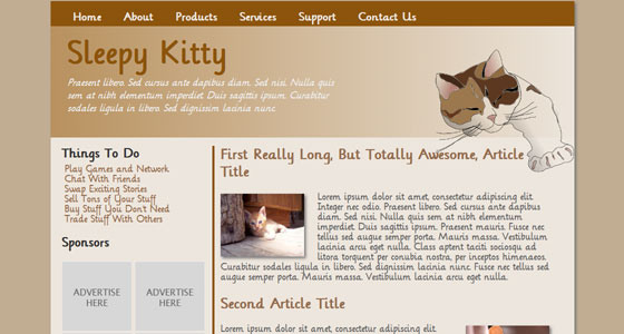 10 Amazing Free HTML5 and CSS3 Template 8