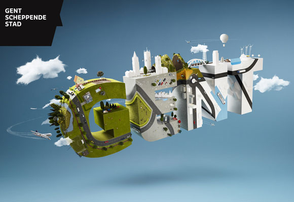 20 Exceptional 3D Type Illustration for Inspiration 16