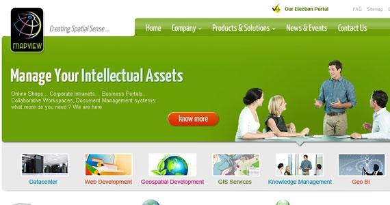 20 Creative Web Design in green Color 4