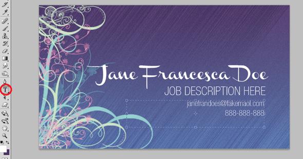 Design a Quick Elegant Feminine Business Card in 10 Simple Steps 10