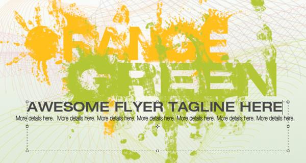 How To Design a Splattered Flyer Title 16