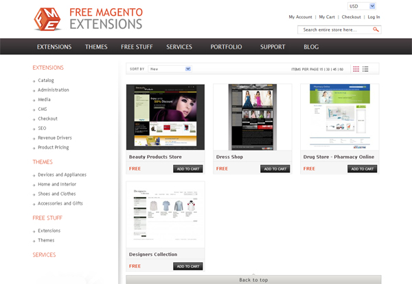 Websites to Download Free Magento Templates 3