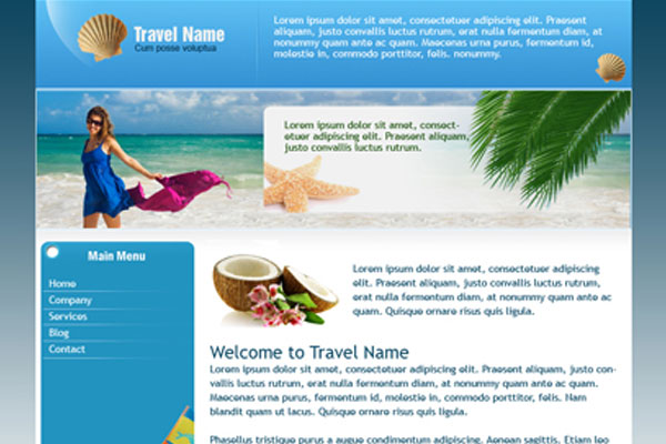 20 Best Free Travel Website Template 11