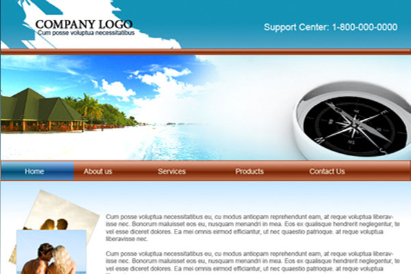 20 Best Free Travel Website Template 12