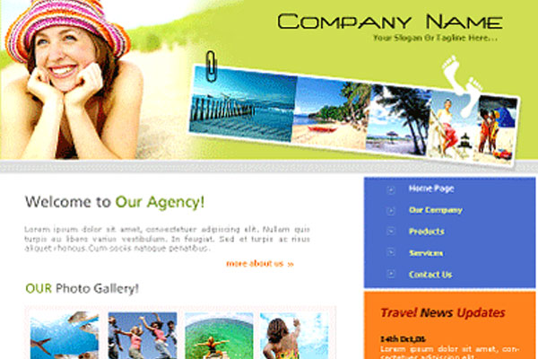 20 Best Free Travel Website Template 15