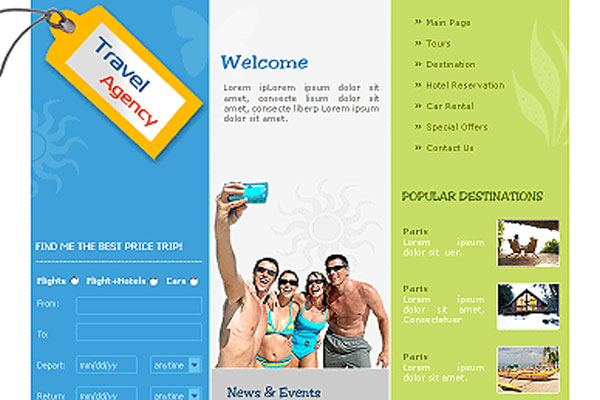 20 Best Free Travel Website Template 16